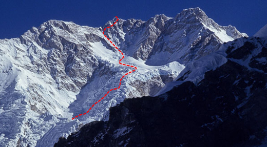 Route on South West face.
